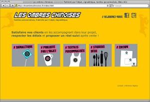 Site internet, page d'accueil, identité graphique